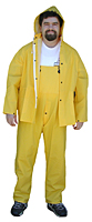 YELLOW PVC THREE PIECE
