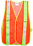 Flourescent Orange Safety Mesh Vest