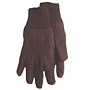 Brown Jersey Knit Wrist Medium Weight Gloves