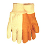 Quilted Golden Brown White Back 14 oz. Knit Wrist Gloves