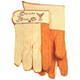 18 oz. Golden Quilted Palm, White Back and Cuff Waterproof Gauntlet Gloves