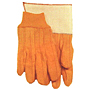 Quilted Golden Brown Chore Nap Out Knit Wrist Gloves - Men's