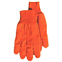 Orange Poly Cord Knit Wrist Gloves