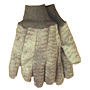 18 oz. Green Double Woven Chore Knit Wrist Gloves - Men's Large
