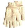 Loop-Out Cotton Yarn Reversible Knit Wrist Light Weight Gloves