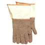 Gray Mix Terry Knit Heavy Weight Reversible Gauntlet Gloves