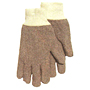 Gray Mix Terry Knit with Knit Wrist Reversible Light Weight Gloves