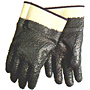 Rough Finish Blue Nitrile, 2 1/2 inch Plasticized Safety Cuff Heavy Weight Gloves