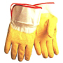 Natural Rubber Coated with Safety Cuff Heavy Weight Gloves