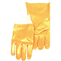 Yellow PVC Smooth Finish Knit Wrist Gloves