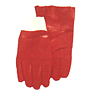 Red PVC Crinkle Finish Knit Wrist Gloves