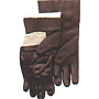 Smooth Finish Black PVC Single Dipped Knit Wrist Gloves