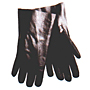 Black PVC Sandpaper Finish Gauntlet Double Dipped 10 inch, Interlock Lined Gloves