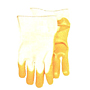 Yellow PVC Smooth Palm Coat Band Top Gloves