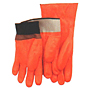 Foam Insulated Fully Coated Smooth Finish PVC Fluorescent Orange Knit Wrist Gloves