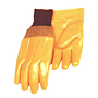 Yellow PVC Foam Lined with Smooth Finish 6 inch Knit Wrist Gloves