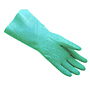Green Nitrile Embossed Grip on Palm and Fingers, 13 inch Long, 15 MIL, Flock Lined Gloves