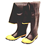 Black Hip Wader, Bar-Tread Outsole, Steel Safety Toe Boots