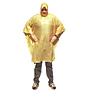 Ponchos, Attached Hood 52 x 80 inch Yellow PVC